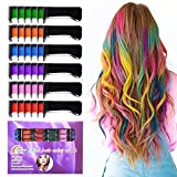 Temporary Bright Hair Chalk Set - Kalolary Metallic Glitter...