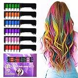 Temporary Bright Hair Chalk Set - Kalolary Metallic Glitter...