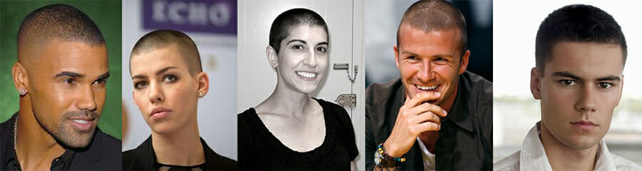 induction cut celebrity examples buzzcut