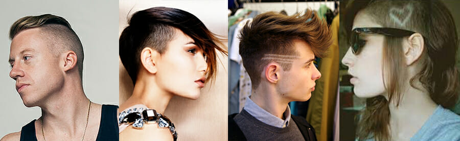 4 examples of different undercuts