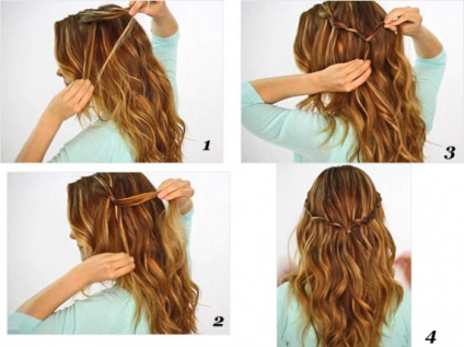 Simple Braid and Curls, DIY Hairstyles