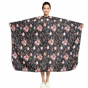 Colorfulife Hair Cutting Rose Flower Cape