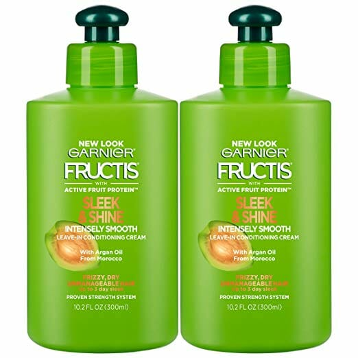 Garnier Hair Care Fructis Sleek Shine Intensely Smooth Leave In Conditioning Cream